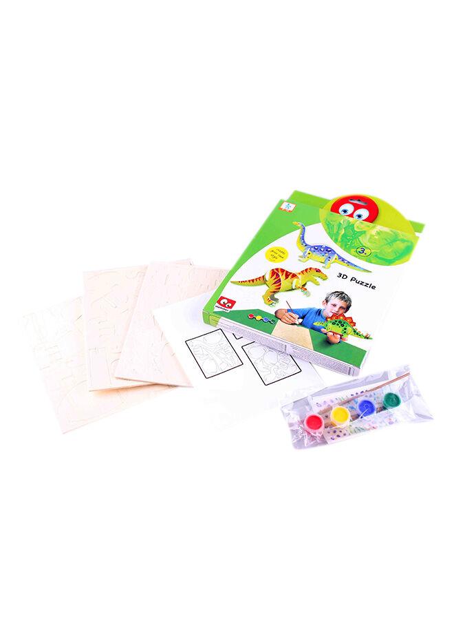 Toys Go Green 3'lü Combo Dinasours 3D Puzzle Set