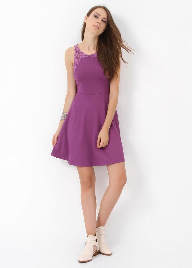 Miss Selen's Omuzu Dantelli  Kloş Elbise