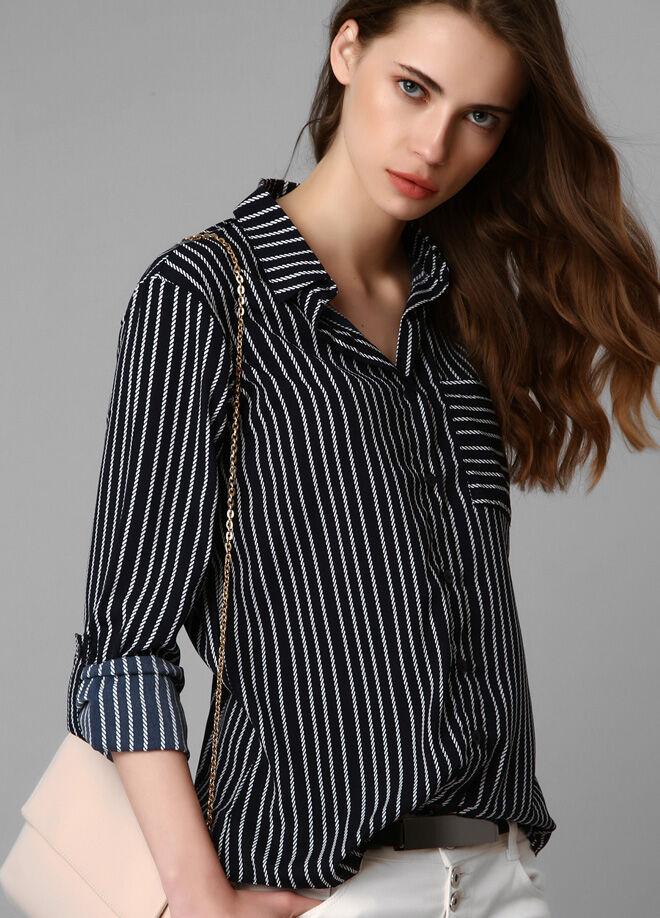Boutiquen Çizgili Yazlık Gömlek