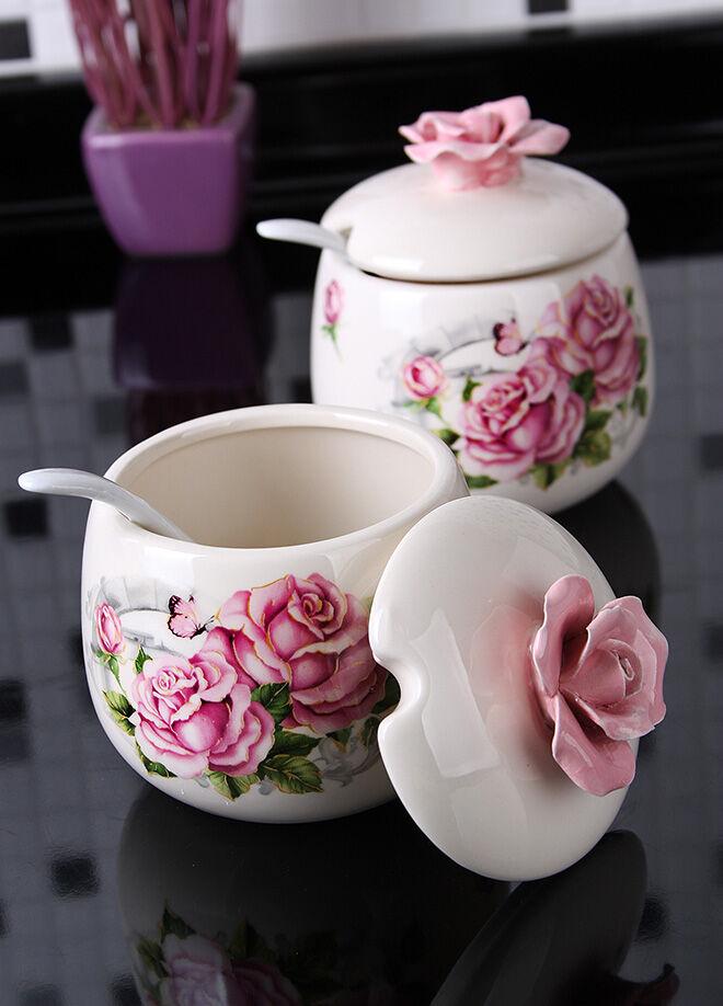 Queen's kitchen Rose Serisi İkili Kaşıklı Lüx Şekerlik - C-BB5004X2AD