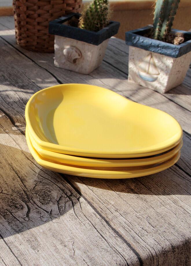 Keramika Tabak Kalp 25 Cm Sarı 117