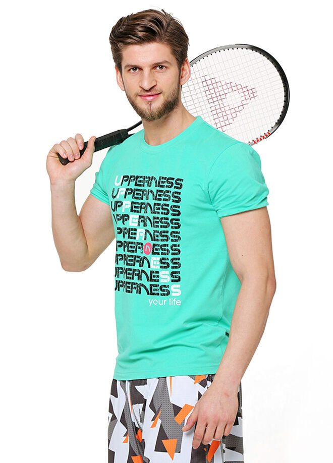 Upperness Joy Green Erkek Spor T-Shirt