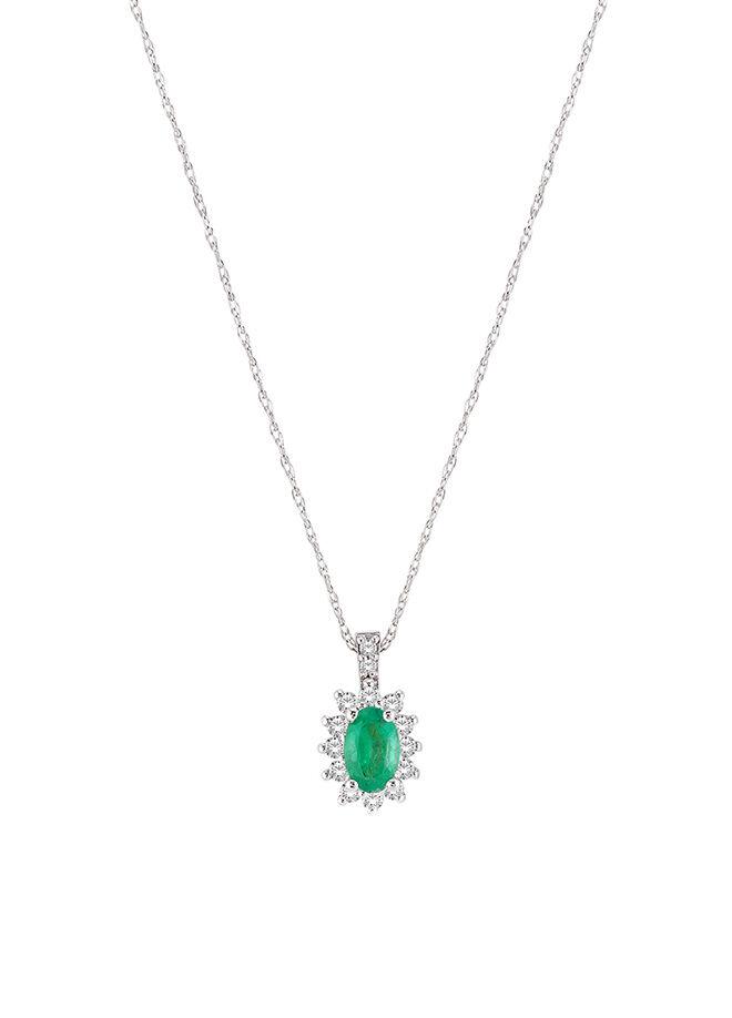 Divas Diamond Pırlanta Altın Zümrüt Kolye
