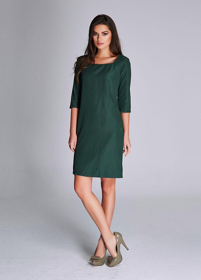 Laranor Kare Yaka Elbise Astarlı