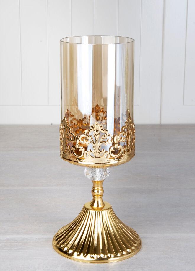 Queen's kitchen Altın Lüx Kararmaz Dekoratif Şamdan