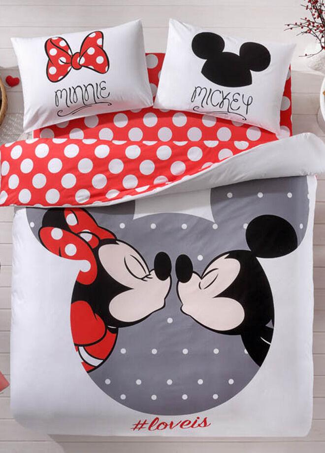 Taç Çift Kişilik Nevresim Takımı - Disney Mickey Minnie Love İs - 60133688
