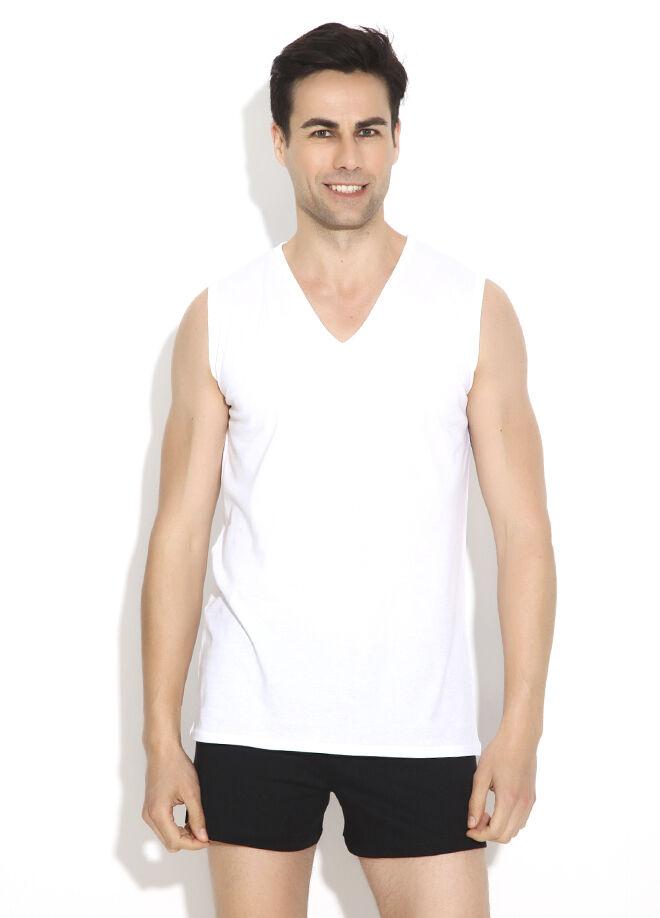 Eros V Yaka Kolsuz 2'li T-Shirt