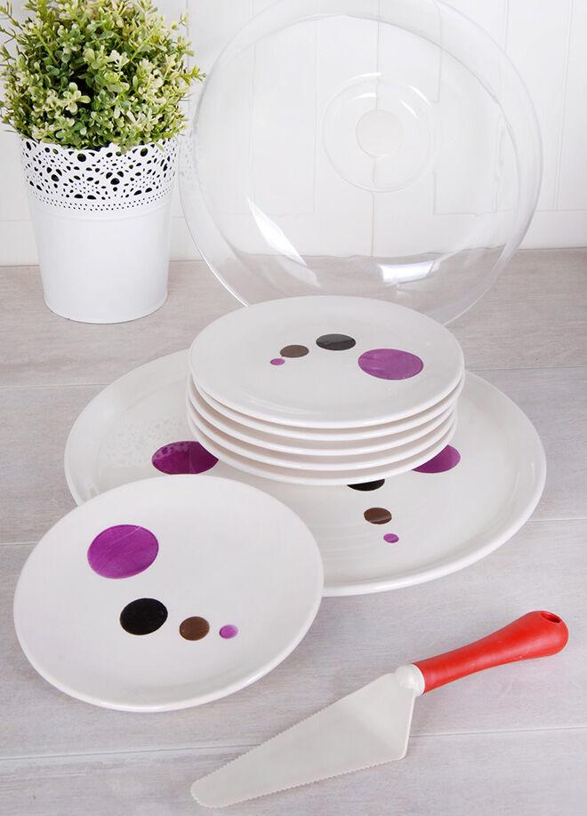 Queen's kitchen Desenli Lüx İkram Seti - AYS-120102001Desenli