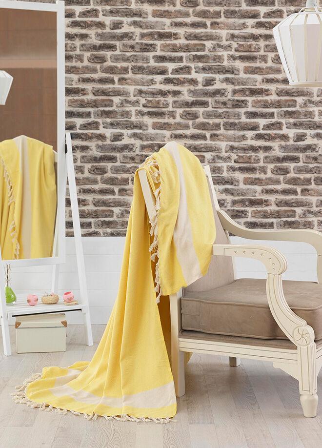 Eponj home Natural Yatak Örtüsü Elmas Sarı Battal Boy