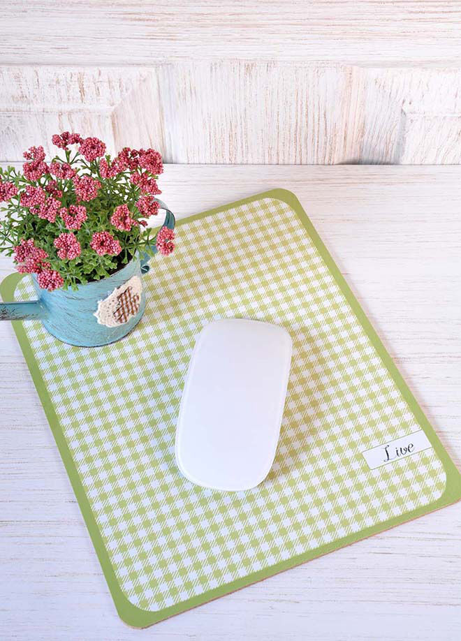 The Mia Mousepad - Ekose Yeşil