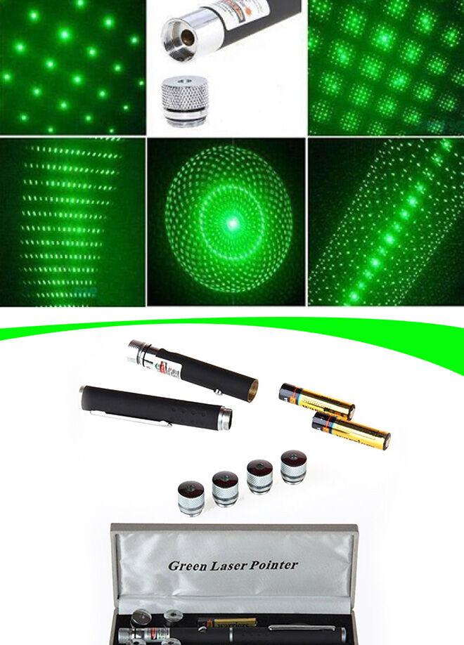 Actto Yeşil Lazer Pointer 100 mW 10km Etkili (5 Başlıklı)