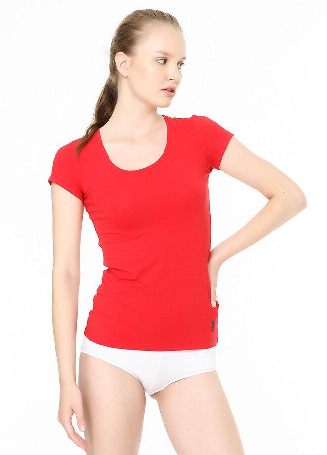 U.S. Polo Assn. Derin Yuvarlak Yaka T-Shirt