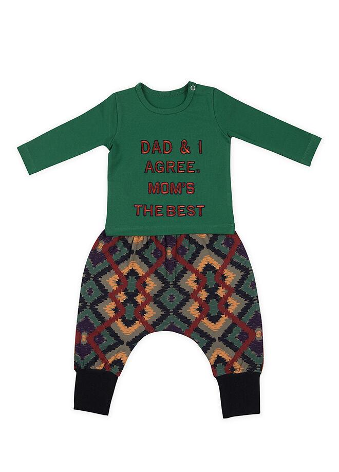 La Petite Pantolon T-Shirt 2'li Takım-CTCRAZY-125