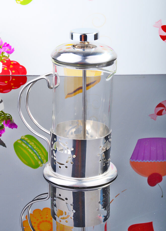 Queen's kitchen 350ml Çelik Lüx French Press - P-16167-9/Papatya