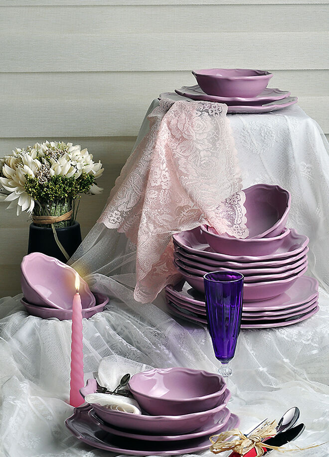 Keramika Takım Yemek Romeo 24 Parca Vıolet 451  A