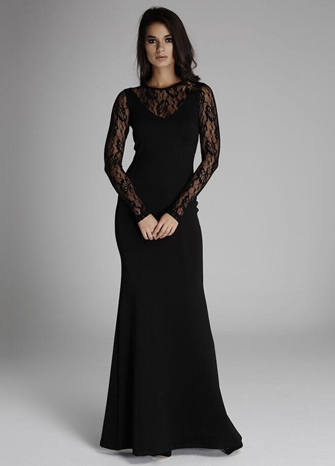 Laranor Dantel Detaylı Abiye Elbise