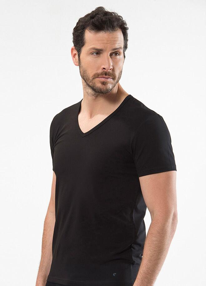 Cacharel V Yaka Kısa Kollu T-Shirt