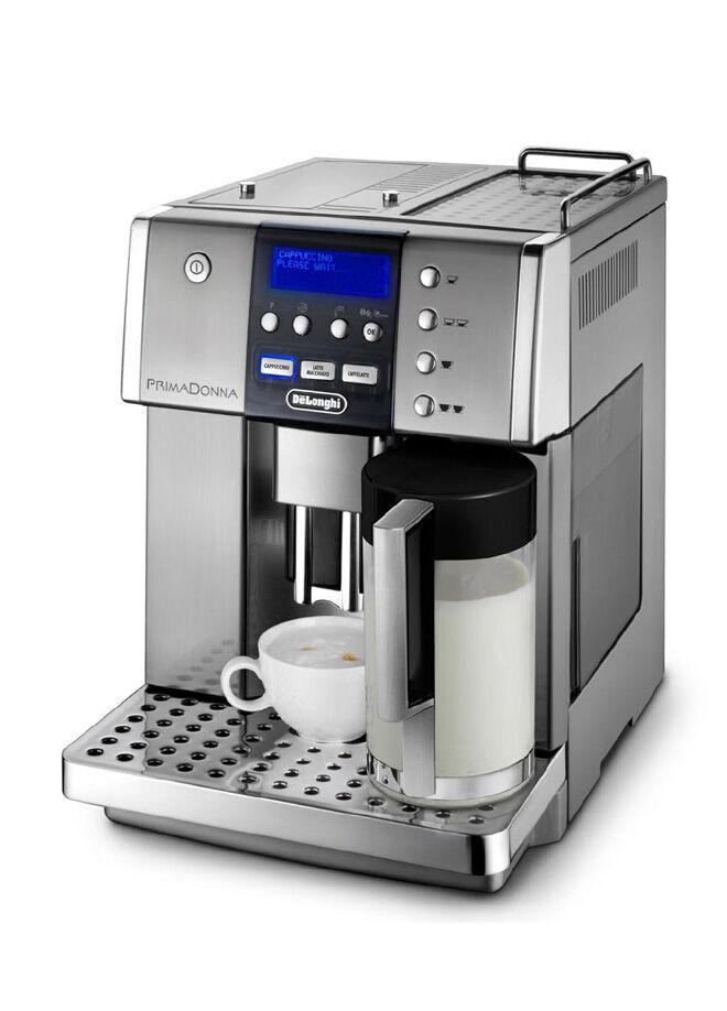Delonghi Otomatik Cappuccino Fonksiyonlu Kahve Makinesi - Metalik