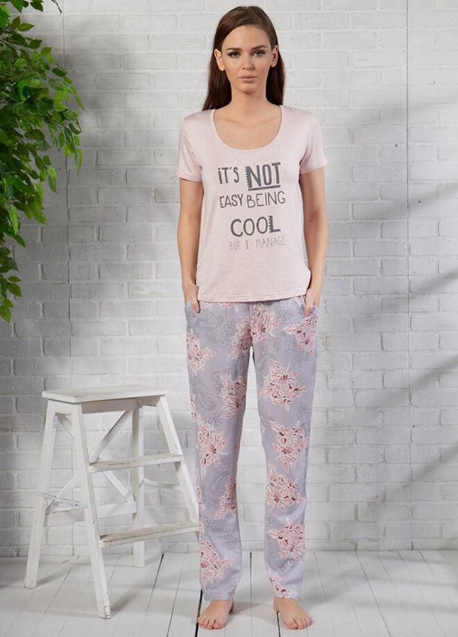 Gizzey Baskılı T-Shirt Pantolon Takım