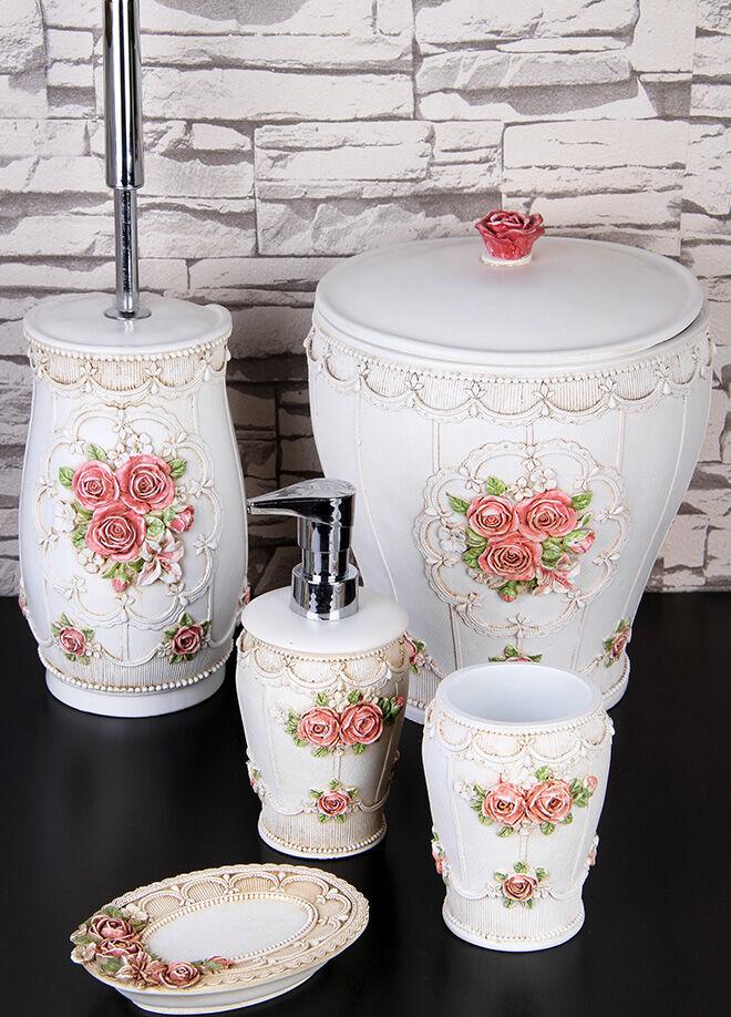 Queen's kitchen Polyester Lüx Banyo Takımı - AY-301-Beyaz