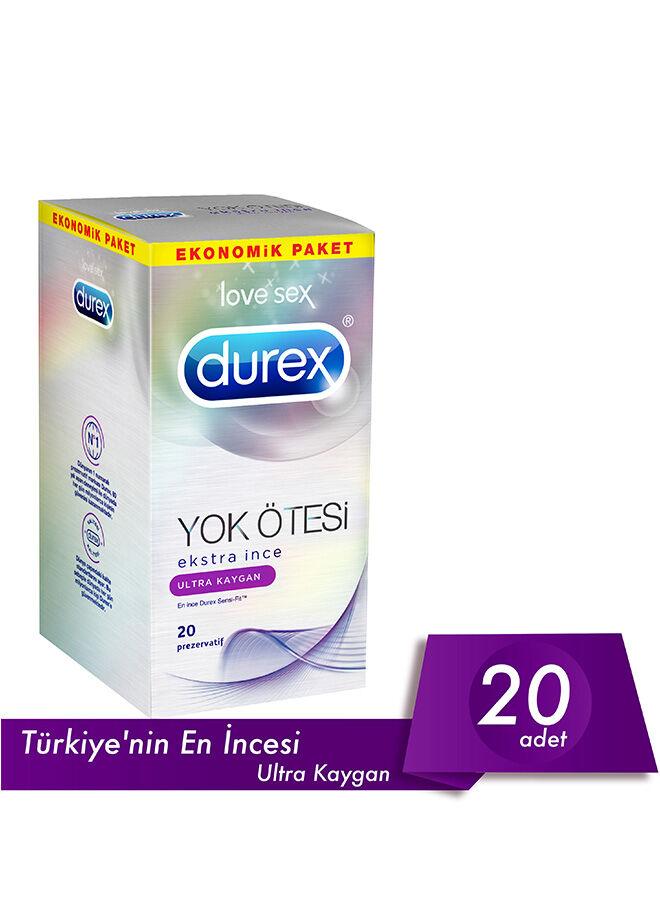 Durex Prezervatif Yok Ötesi  Ultra Kaygan 20'li