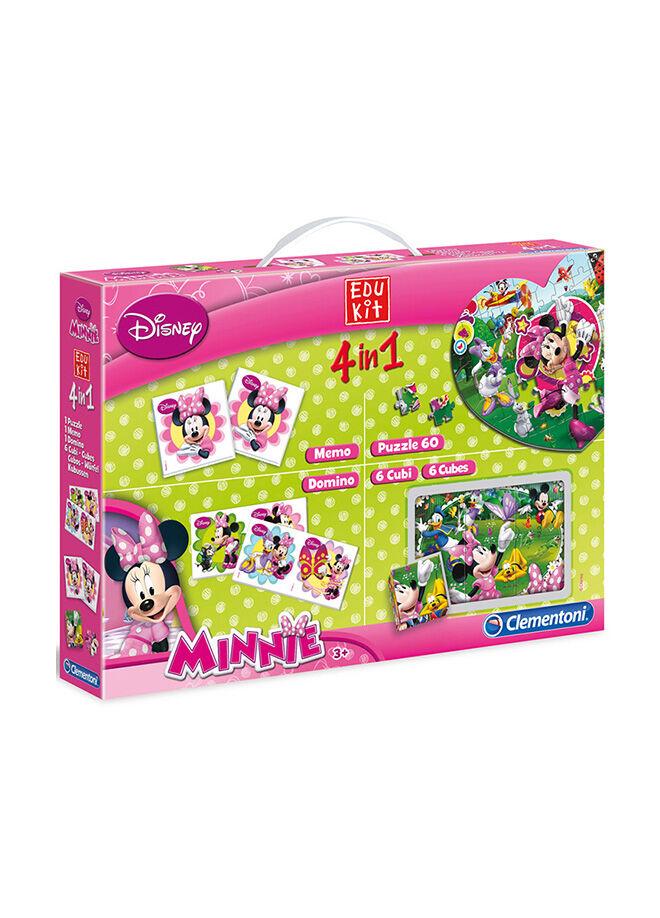 Clementoni Clementoni Edukit Eğitim Seti 4'ü 1 Arada Minnie Mouse