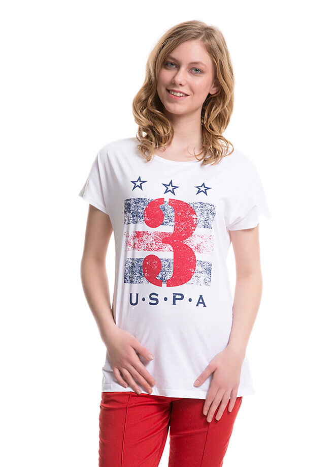 U.S. Polo Assn. Kadın Regular Fit T-Shirt