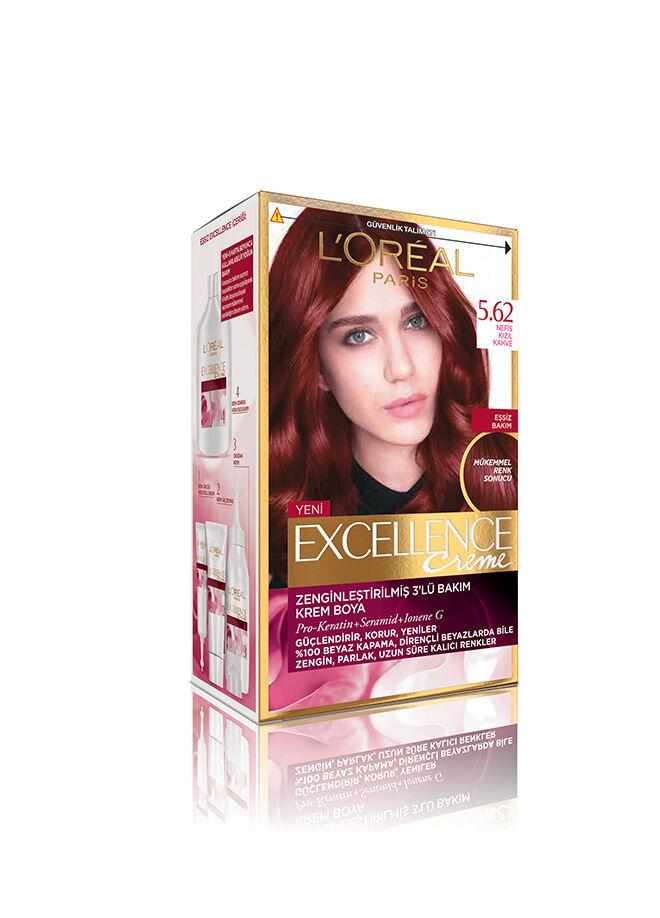 L'Oréal Paris Excellence Creme 5.62 Nefis Kızıl Kahve