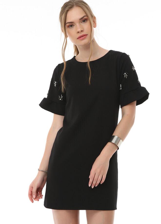 TrueLove Collection Kolları Taşlı Elbise
