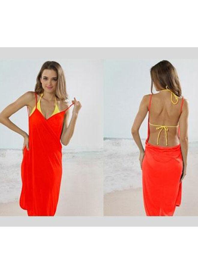 Practika Pareo Plaj Elbisesi (Kırmızı)
