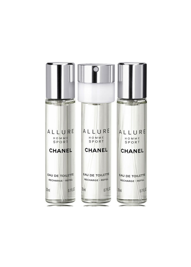 Chanel Allure Homme Sport Edt Refill Spray Set