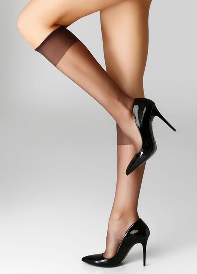 İtaliana Fit 15 Burunsuz İnce Parlak Dizaltı Çorabı 2'li Paket