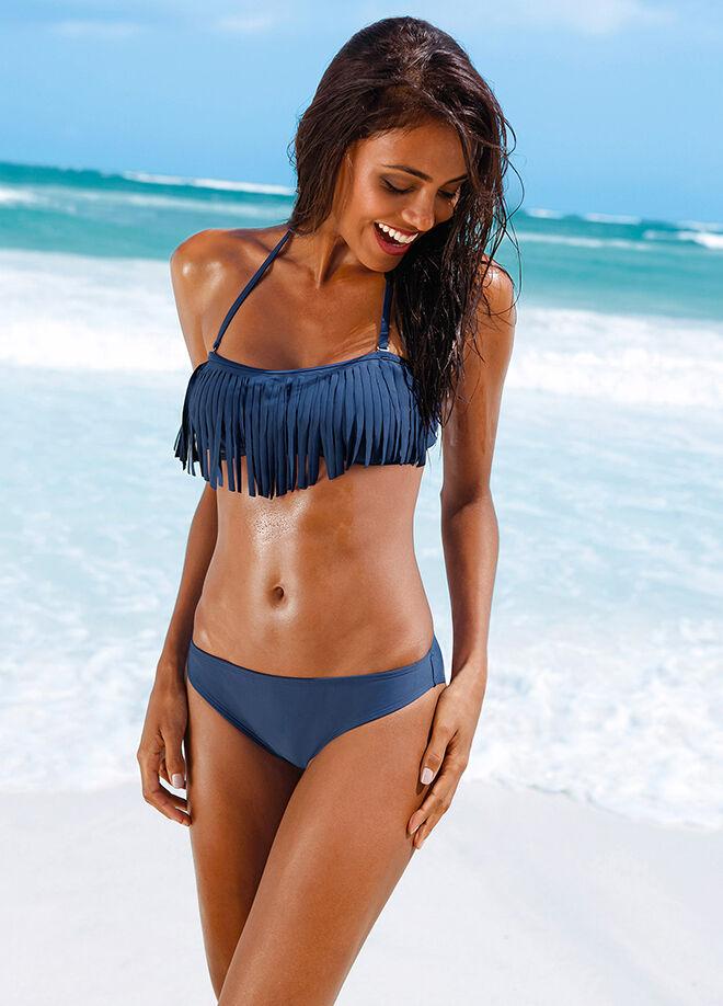 Bonprix Püsküllü Straplez Bikini