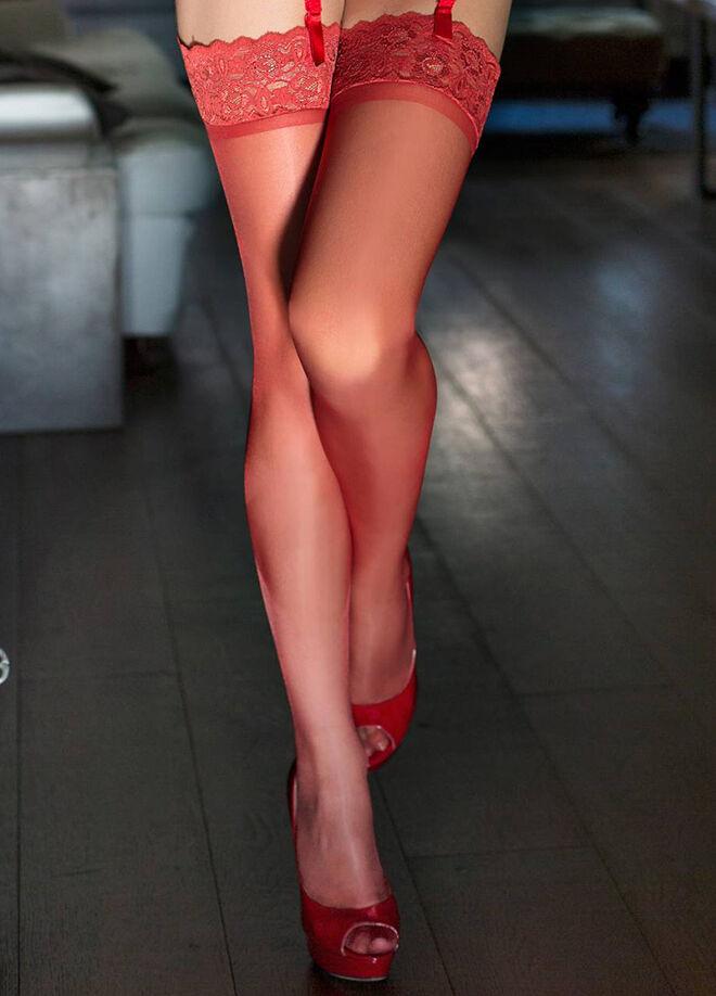 Ay-Yıldız Dantelli Jartiyer Çorap