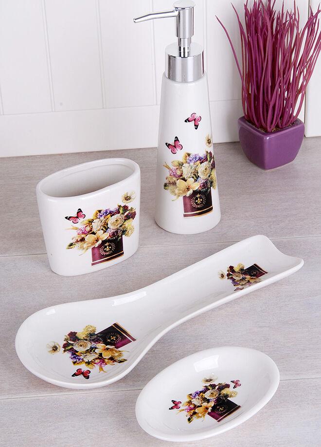 Queen's kitchen Porselen 4 Parça Mutfak Takımı - GÖ-G332-1