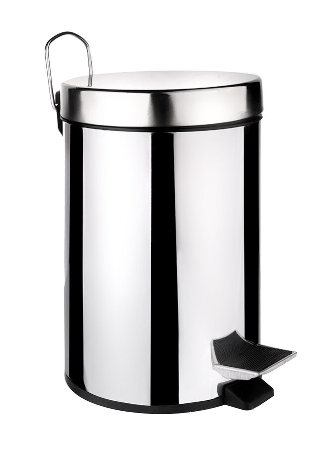 Queen's kitchen Paslanmaz Metal 3 lt Pedallı Çöp Kovası - C-3 lt