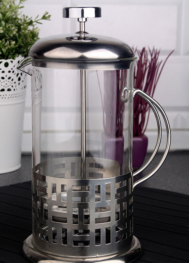 Queen's kitchen 350ml Çelik Lüx French Press - P-16167-10/Çizgi