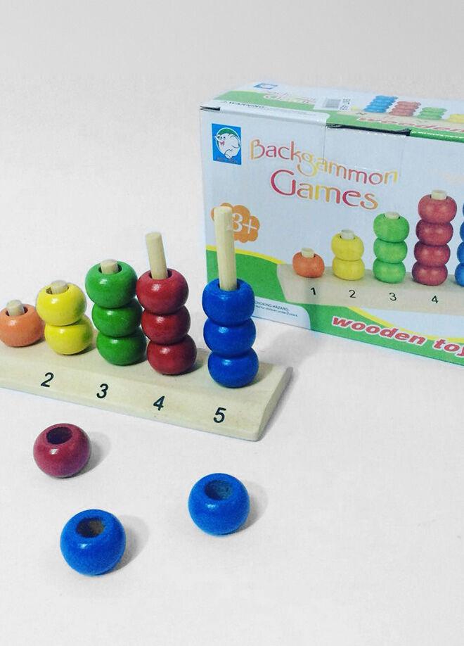 Eğitici Ahşap Oyuncaklar Ahşap Sıralı Halka 5'Li