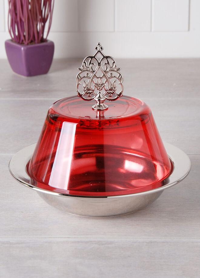 Queen's kitchen Sultani Cam Kapaklı Lüx Büyük Şekerlik