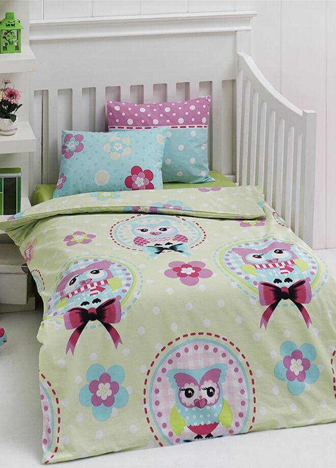 Eponj home Bebek Nevresim Takımı Baykuş Yeşil 956302
