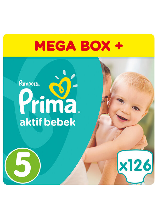 Prima Aktif Bebek 5 Beden Junior Aylık Plus Paket 126 Adet
