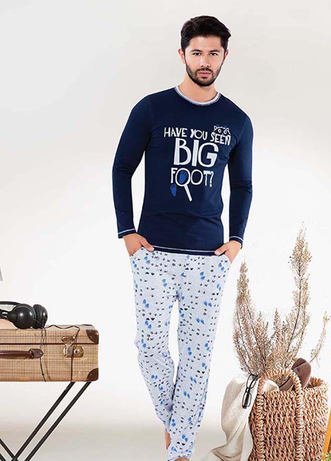 Elitol Premium EK272 Baba-Oğul Pamuklu Likralı Cep'Li Pijama Takım