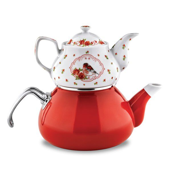 Schafer Schafer Tee Morgen Emaye Çaydanlık