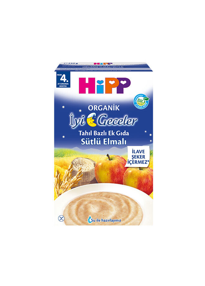 Hipp Hipp Organik İyi Geceler Sütlü Elmalı 250 gr