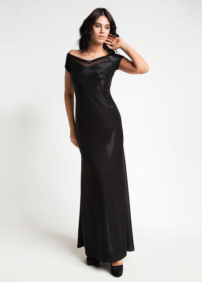 Laranor xxYaka ve Tül Detaylı Abiye Elbise