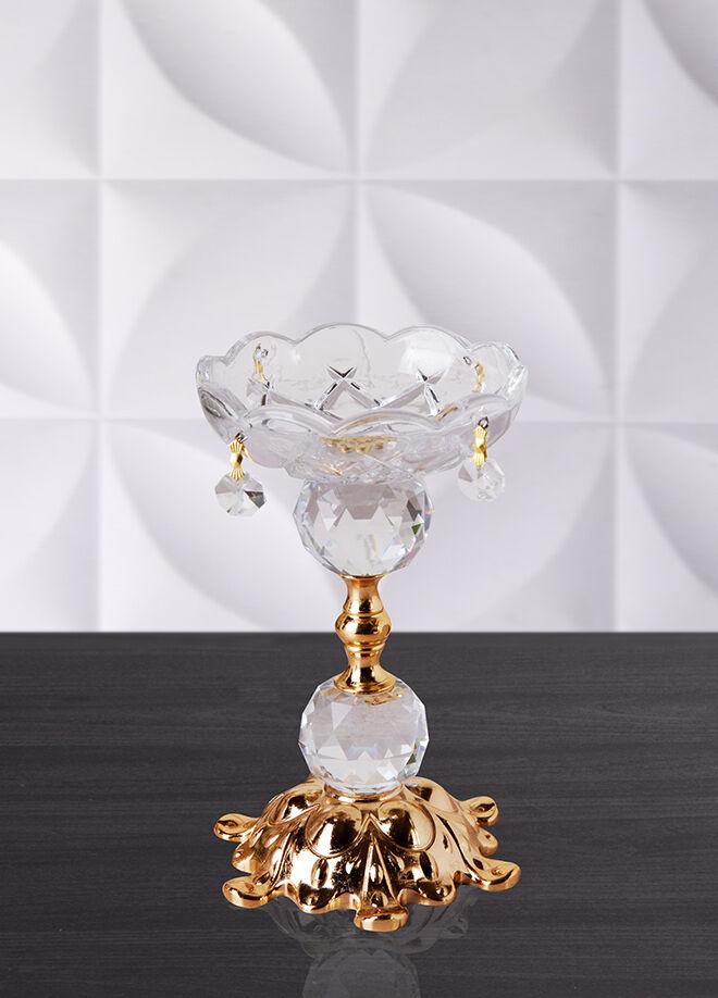 Queen's kitchen 18 cm Lüx Kristal Şamdan Altın