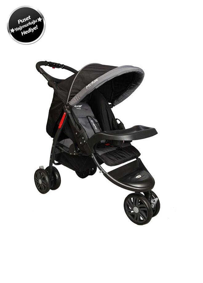 McRae McRae MC 815 Triple Jogger 3 Tekerlekli Lux Bebek Arabası-Siyah
