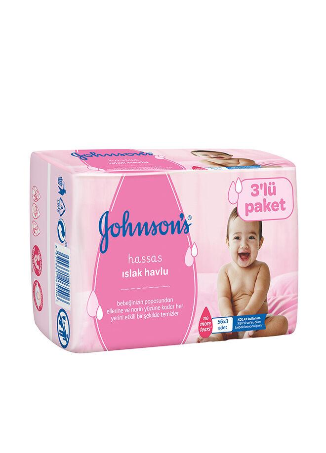 Johnson's Baby Johnson's Baby Parfümlü Islak mendil Eko 3'lü