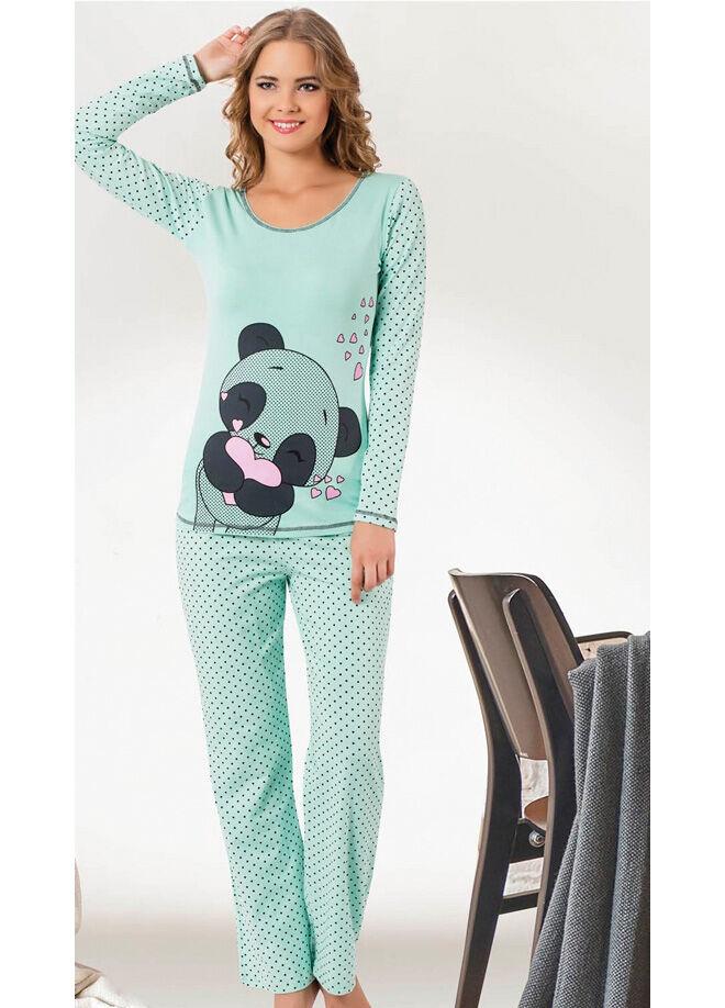 Elitol Premium ER-112 Pamuklu Likralı Pijama Takım