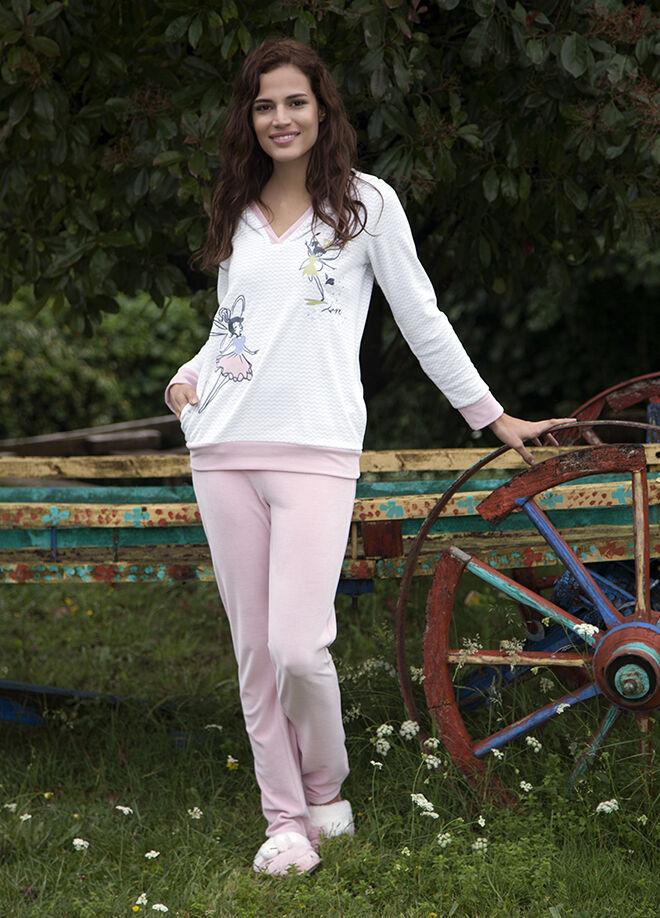 Hays Hays Eva Bayan Kadife 2Li Uzun Pijama Takımı